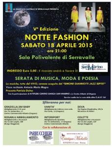 Locandina Notte Fashion Serr. 2015